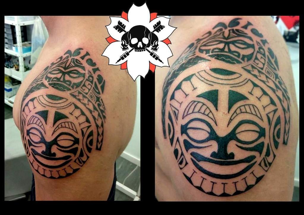 Flecha Tattoo On Twitter Maori Tiki Tattoo Flechatattoo