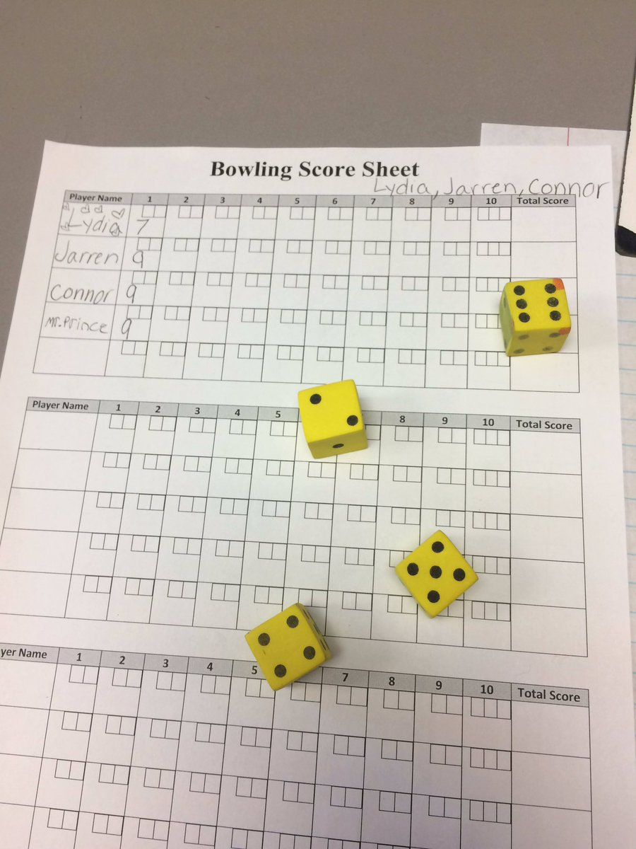 """Darin Prince On Twitter: """"bowling With Pemdas With Mrs. Crace! Roll The  Dice And Use Order Of Operation To Get As Close To A 10 As Possible!"""