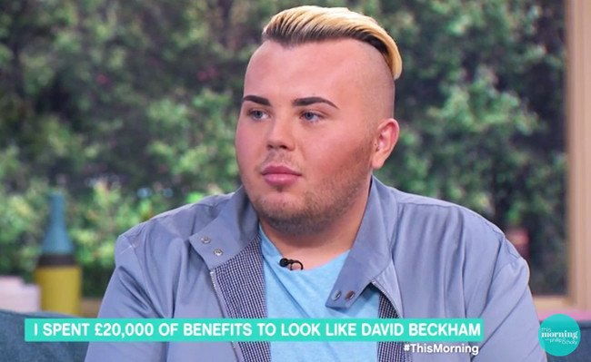 This guy paid $26,000 to look like David Beckham...
