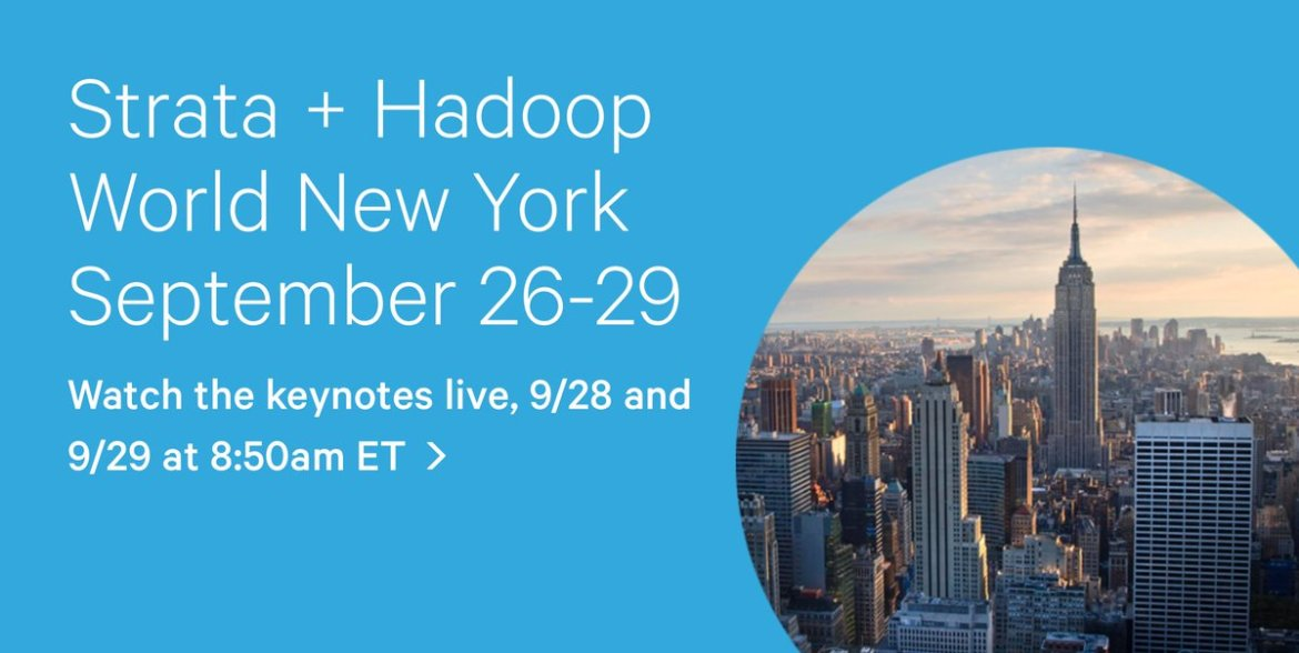 Can't attend the #StrataHadoop Keynotes in person? Watch the live stream here:
