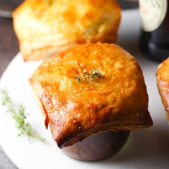 Irish Stout Mason Jar Beef Pot Pies