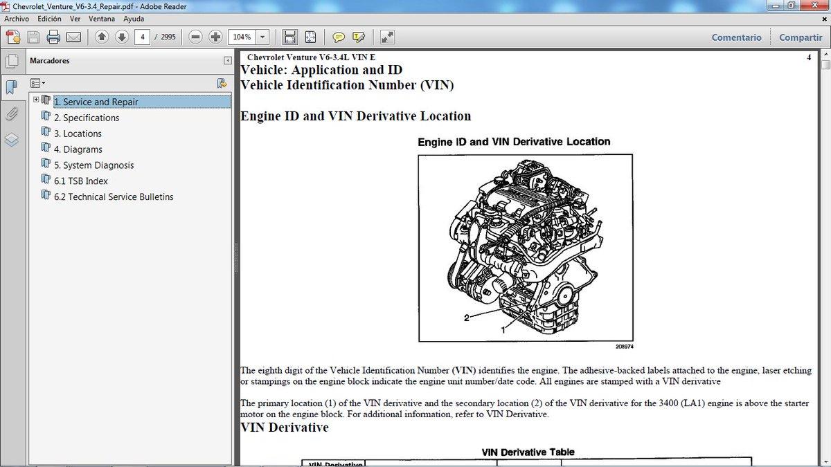 hight resolution of chevrolet venture 1997 2005 motor gasolina v6 3 4 lts manual de taller en pdf 2 995 p ginas manualestaller2000 gmail com chevroletventure