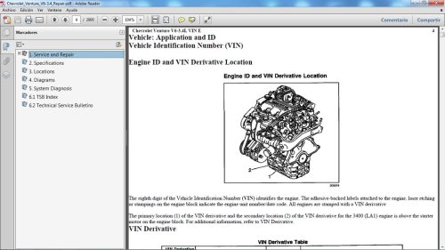 small resolution of chevrolet venture 1997 2005 motor gasolina v6 3 4 lts manual de taller en pdf 2 995 p ginas manualestaller2000 gmail com chevroletventure