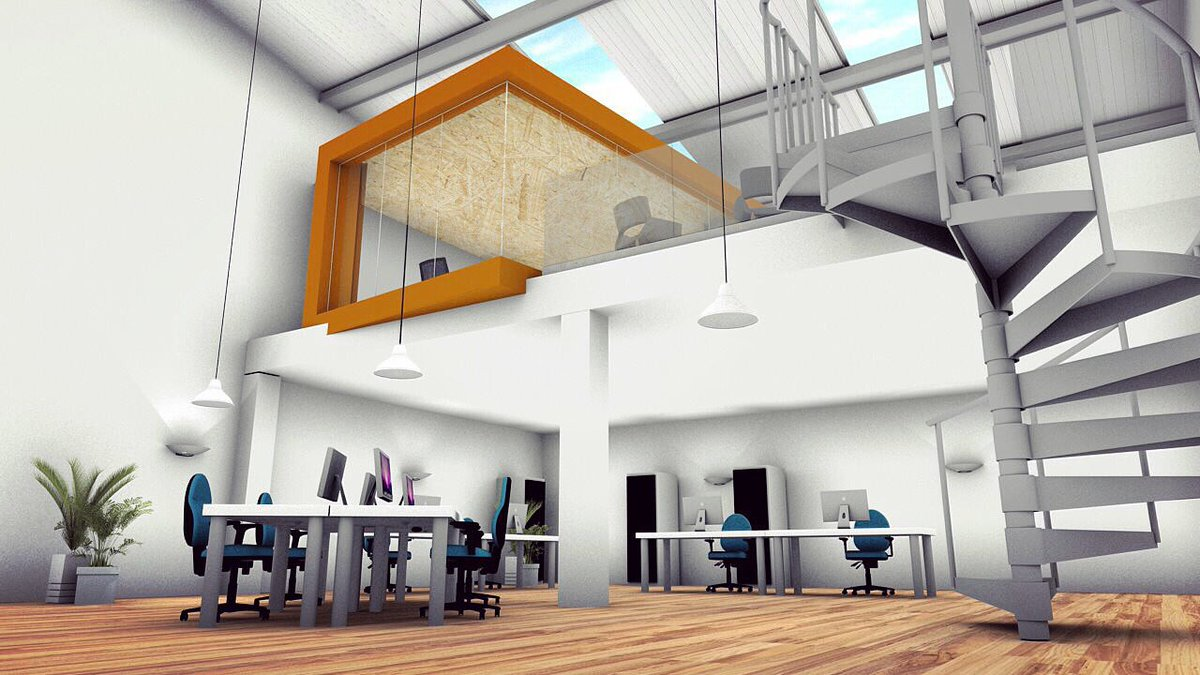 """D&G Office Interiors On Twitter """"3D Visual Of A New Meeting Room"""