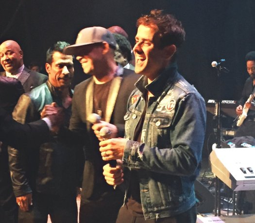 NKOTB at Stylistics concert