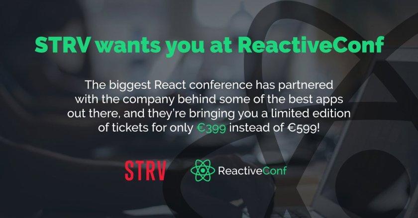 Save €200 on #ReactiveConf tix with @strvcom's special discount:  #ReactJS