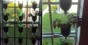 DIY Vertical Window Garden