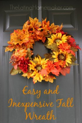 Easy and Inexpensive (though still super gorgeous) Fall Wreath DIY decor craft handmade