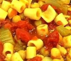 Garbanzo and Pasta Soup