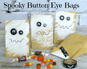 Button Eye Halloween Treat Bags DIY crafts