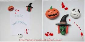 SanDryCreaciones: Imanes de Halloween con Pasta Polimrica DIY Deco