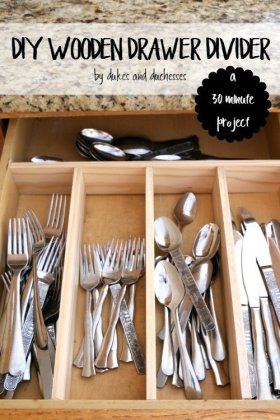 Organize the kitchen with a DIY drawer divider!