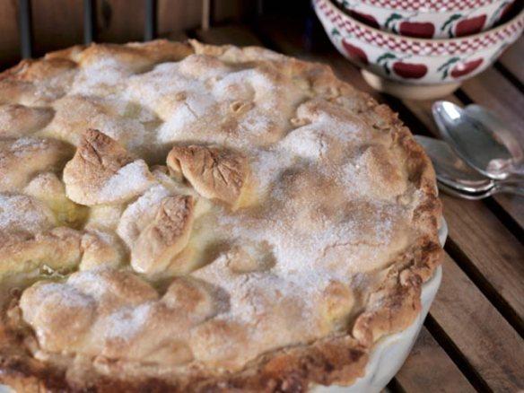 Avoca's mouthwatering apple pie with blackberries -