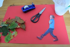 We have been making a fun leaf collage. crafts
