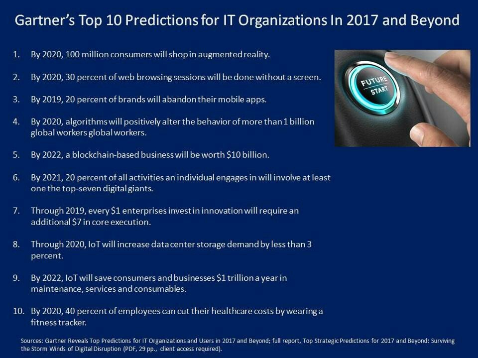 Here are 10 IT trends to follow in the next years. #blockchain #IoT via @Gartner_inc