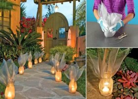 DIY: Garden Luminaries : Light