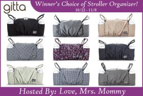 Gitta Stroller Organizer GIVEAWAY! Winner's Choice! Love_MrsMommy Travel Baby Prize