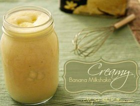 A fave in my home! >> Creamy Banana Milkshake