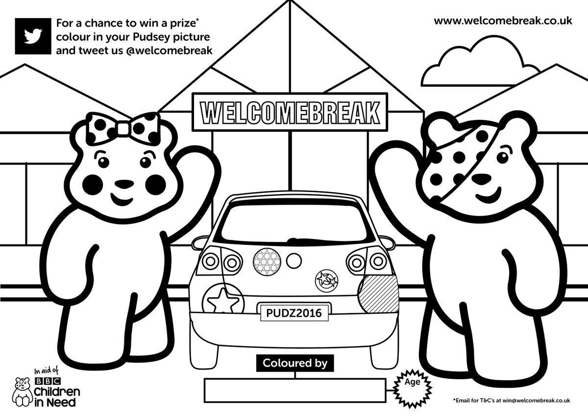 Pudsey Bear Colouring Pages Sketch Coloring Page