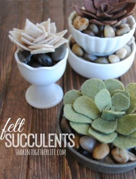 Not green fingered? How to Make Felt Succulents :) felt tutorial craft