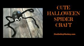 Cute Halloween Spider Craft onesmileymonkey halloween spider craft kids diy