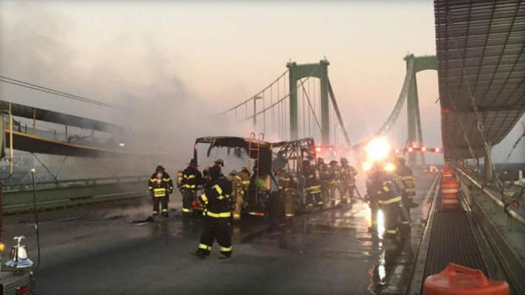 RV carrying marijuana-flavored edibles catches fire on Delaware Memorial Bridge: