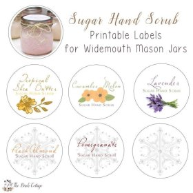 New printable labels for DIY Sugar Hand Scrub. diychristmas