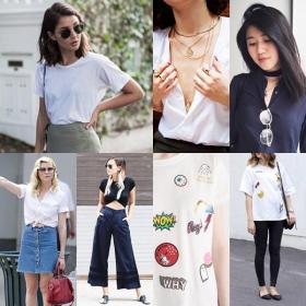 3 Ways to Level-Up Your Plain Shirt: tshirt tee fashiontips streetstyle fashion