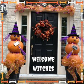 Something wicked this way comes.Build your own Halloween WitchesDIY