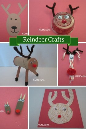 Reindeer are fun to make for Christmas. crafts kids