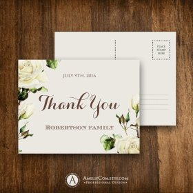 Printable Thank You Cards INSTANT DOWNLOAD Digital Thanks Card.. DIY InstantDownload