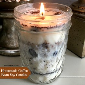 Homemade Coffee Bean Soy Candle diy crafts candles