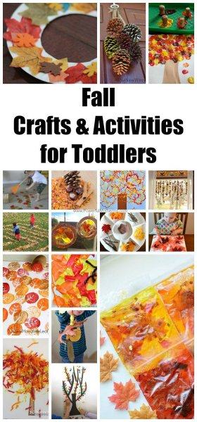 Fall Crafts & Activities for Toddlers.fall crafts toddlers