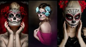 Dia de Los Muertos DayOfTheDead beautiful makeup ideas + video Ant Adams Makeup