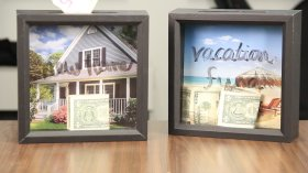 DIY your way to saving - DIY Saving Frame video tutorial homedecor