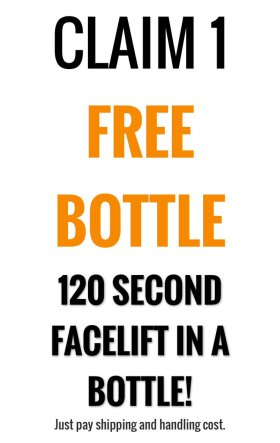 120 second facelift in a bottle. skincare skincaretips free