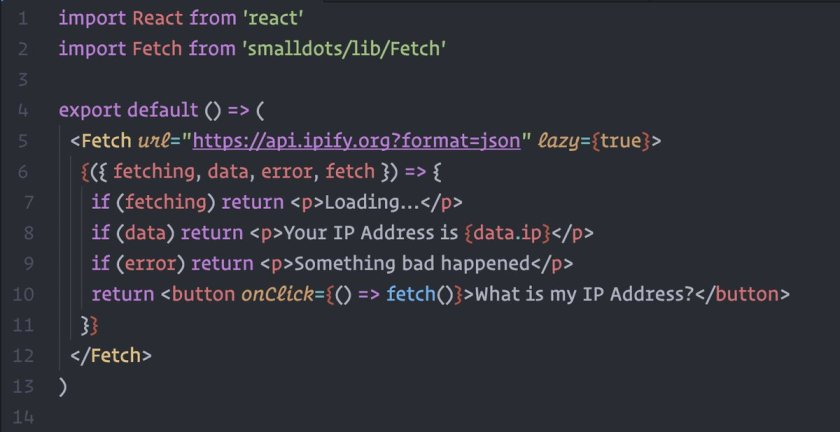 <Fetch /> works with @zeithq's Next.js 🤘🏻 #reactjs #javascript #nodejs
