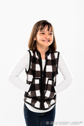 Add style to her wardrobe with a DIY vest with Simplicitys pattern 8027E! HobbyLobbyMade
