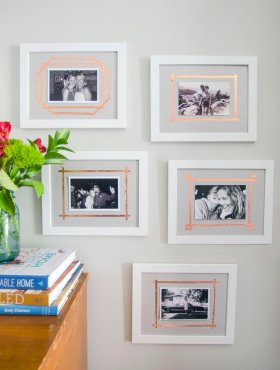 How To: Warm Up Your Photos With This DIY Copper Matting Technique via curbly -