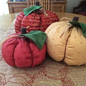 How to make a fabric pumpkin DIY Craft Sewing