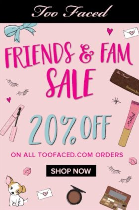 It's happening! TooFaced Friends & Family sale is on!!! makeup bbloggers
