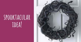 HalloweenDIY: Horrifying snake wreath. Get the tutorial: savemoney crafts
