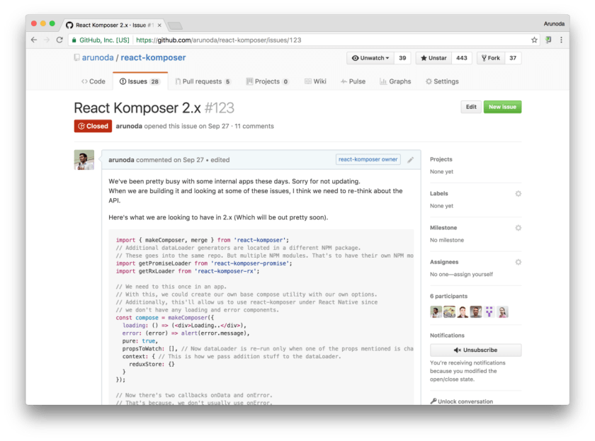 Introducing React Komposer 2: Feed data into #ReactJS components by composing containers