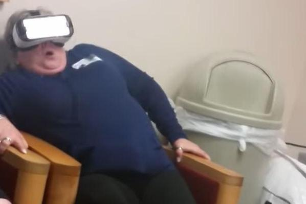 Attempt to 'relax' mum with virtual reality backfires completely