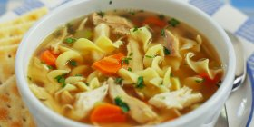 Try our for chicken noodle soup to stay warm ://