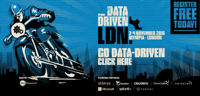 Join us at #BigData London on 11/4 for a demo on the power of machine learning  @BigData_LDN