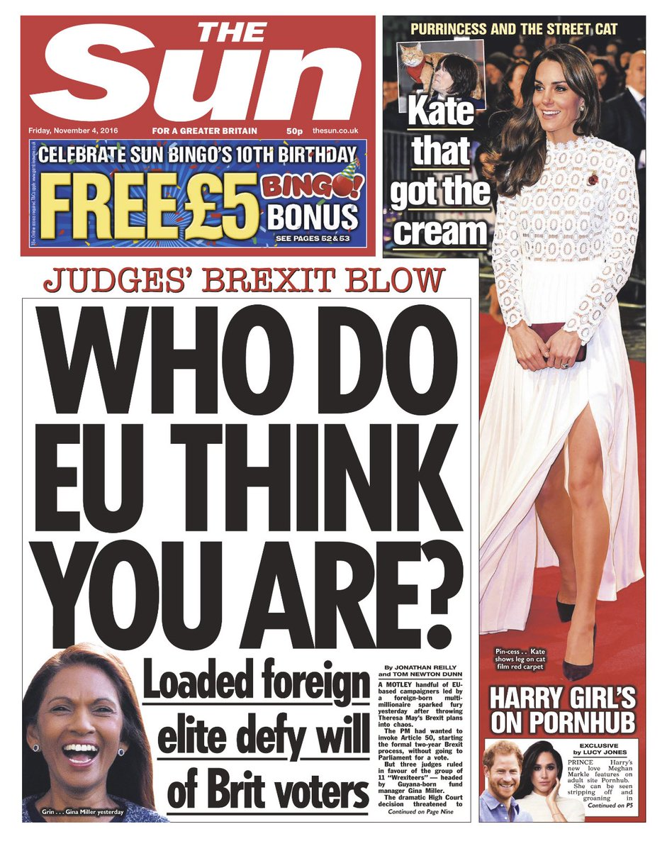 "Neil Henderson On Twitter ""THE SUN Who Do EU Think You"