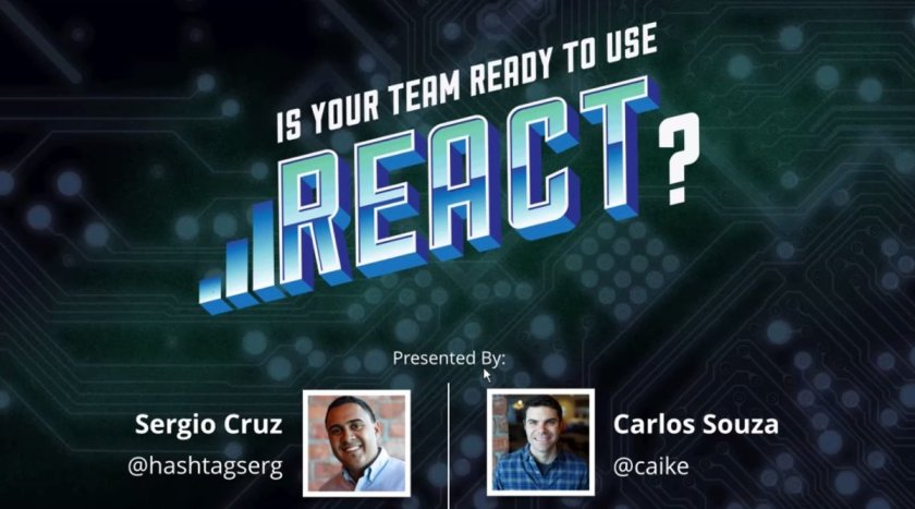 Webinar recording: experts from @codeschool share why your team should start using #ReactJS.