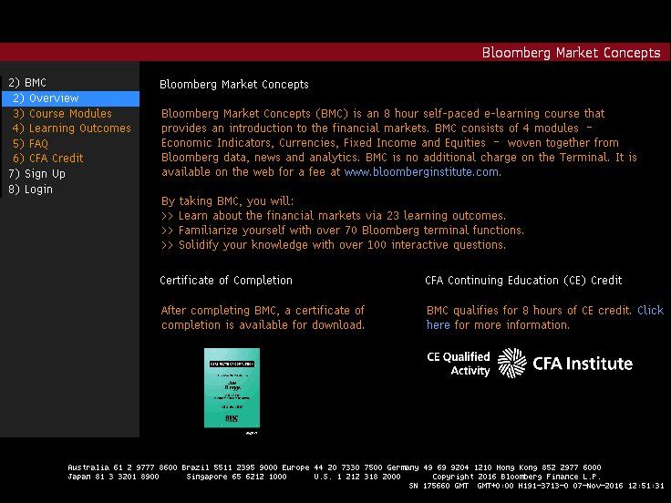How to start bloomberg certification