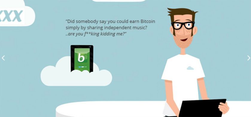 """""""Did somebody say you could earn Bitcoin simply by sharing independent music?"""""""